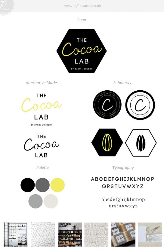 The Cocoa Lab Brand Board | byRosanna