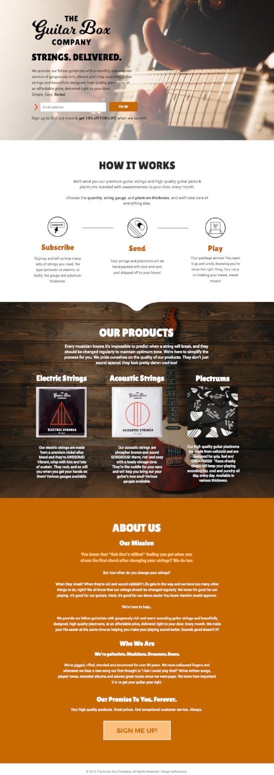 The Guitar Box Company Website   byRosanna
