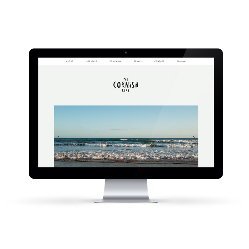 The Cornish Life Website design byRosanna