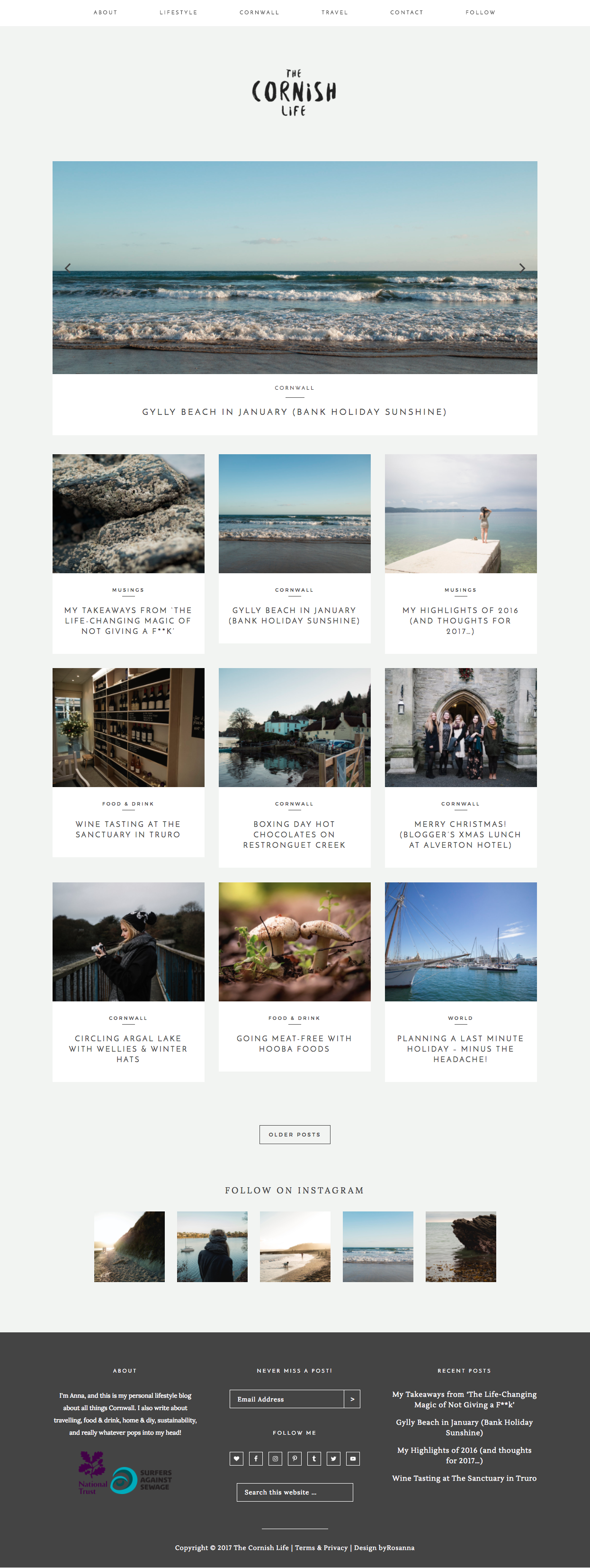 The Cornish Life Website Design | byRosanna