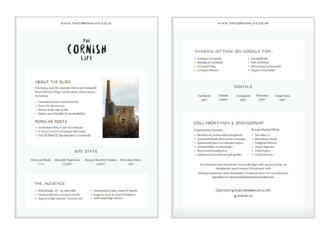 The Cornish Life Media Kit Design | byRosanna