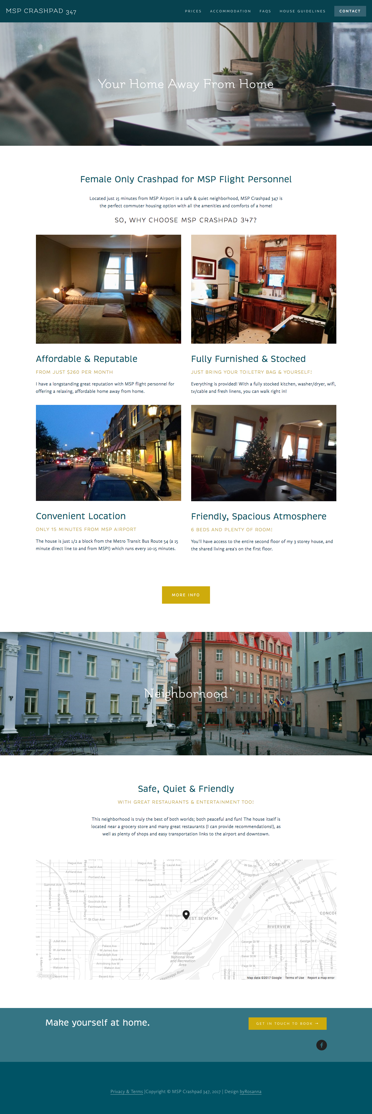 MSP Crashpad 347 Website Design | byRosanna