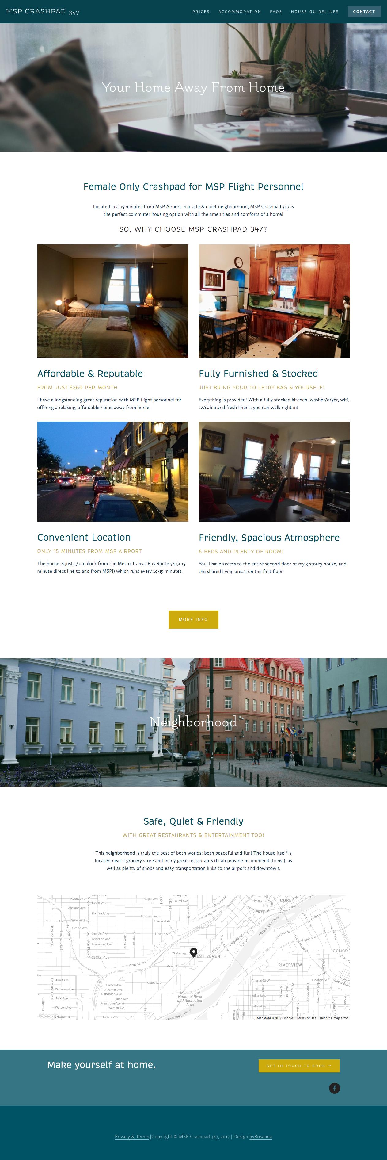 MSP Crashpad website | byRosanna