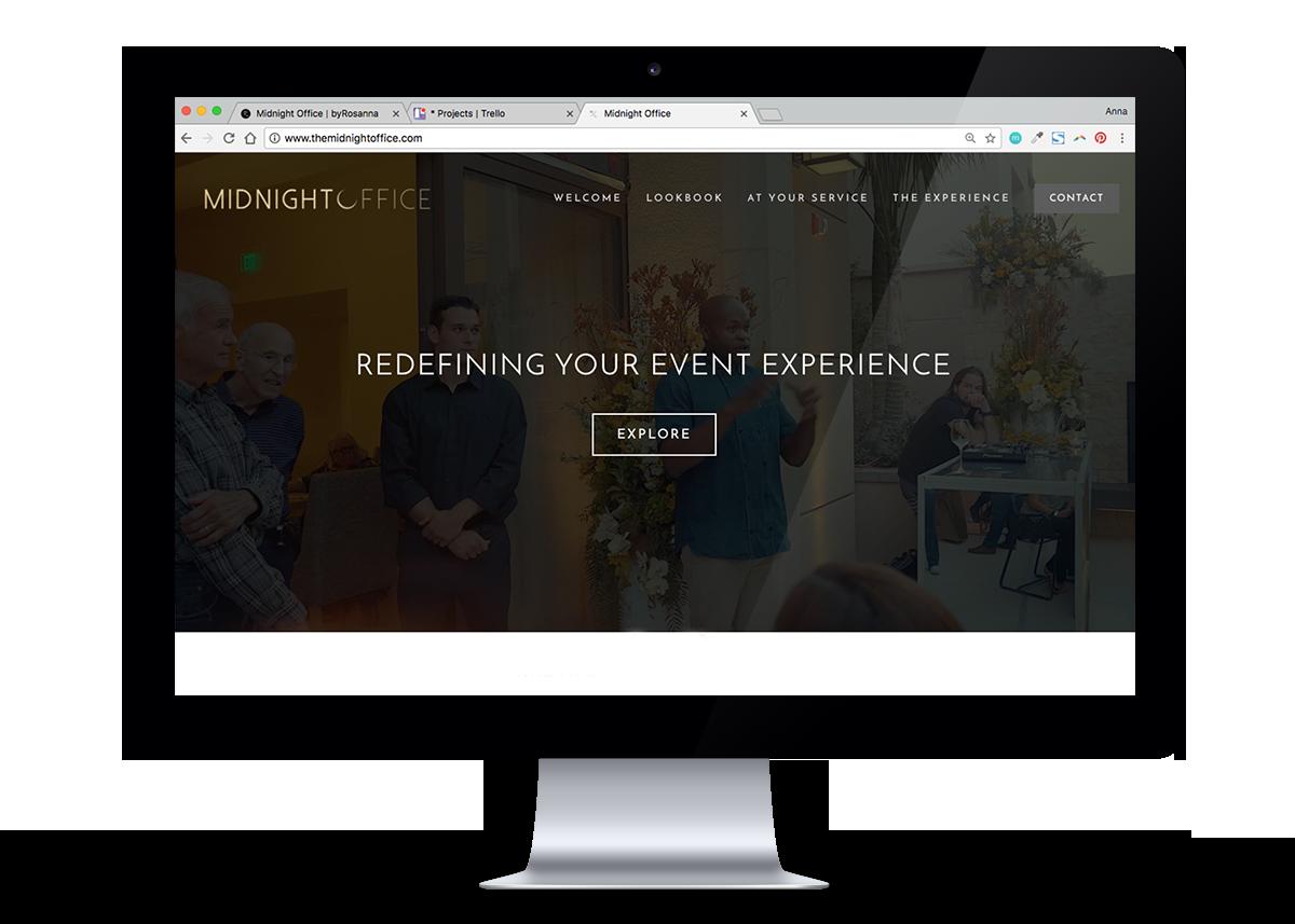 Midnight Office Website | byRosanna