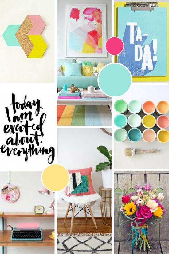 Chameleon Creative Content Brand Moodboard | byRosanna