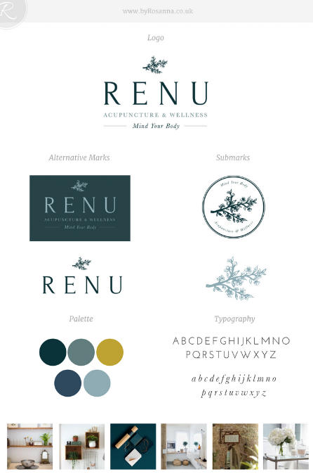 Example of a 'brand design concept' for ReNu - much more than just one logo!