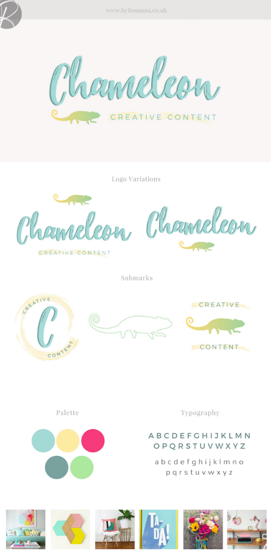 Chameleon Creative Content Brand Design | byRosanna