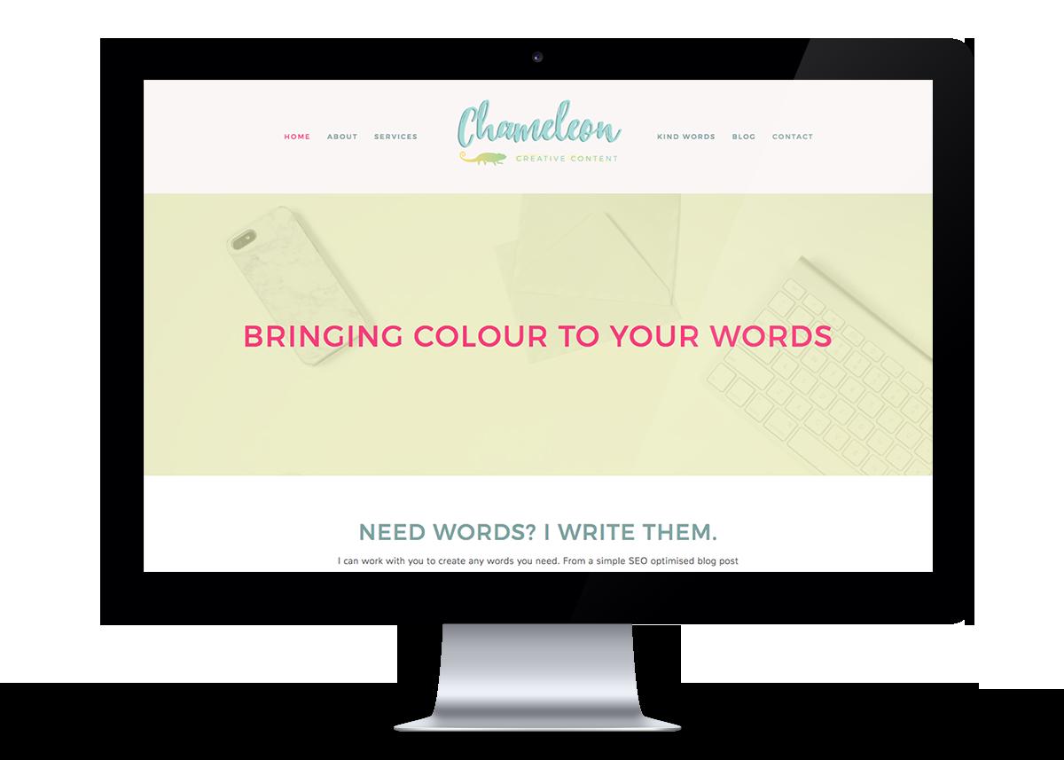 Chameleon Creative Content Website Design | byRosanna