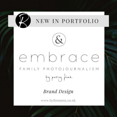 Brand Design for Embrace by Petsy Fink