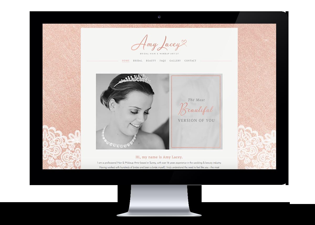Amy Lacey Website Design | byRosanna
