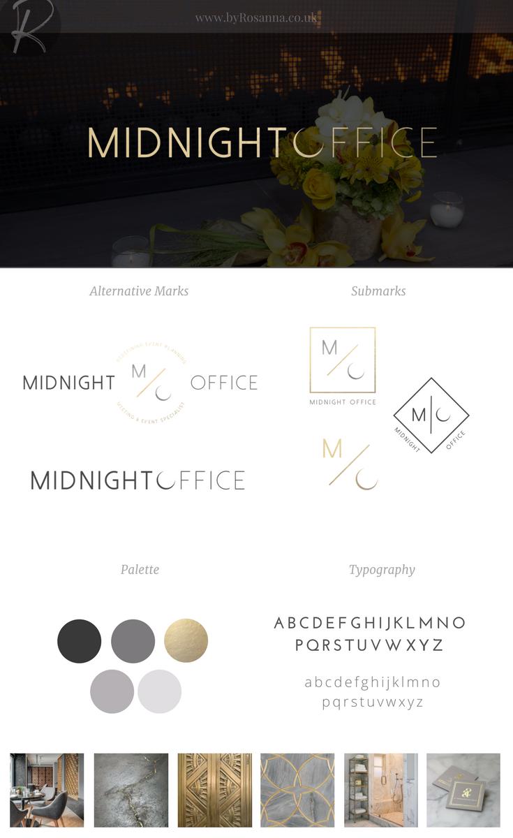 Midnight Office Branding | byRosanna
