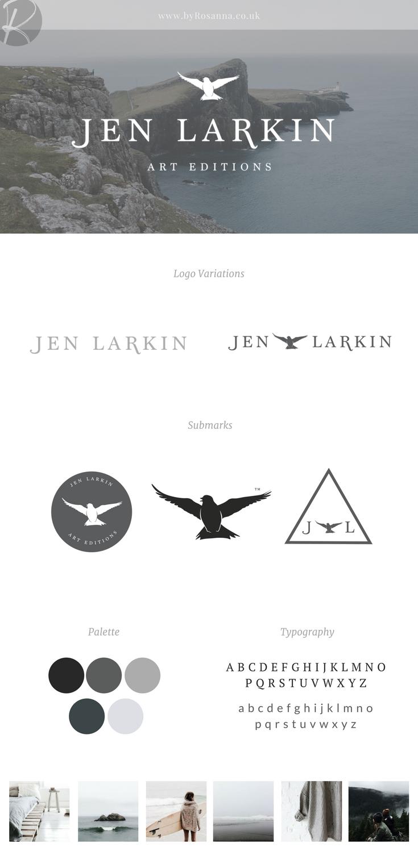 Jen Larkin Brand and Logo Design | byRosanna