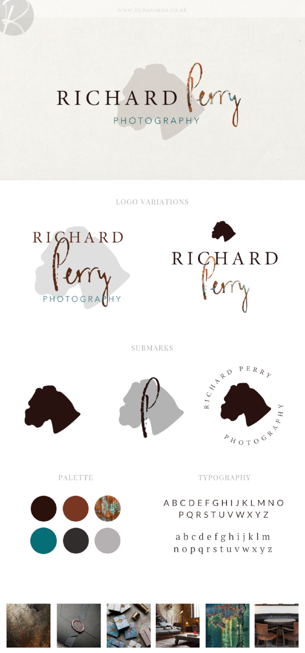 Richard Perry Photography Brand Concept board | byRosanna