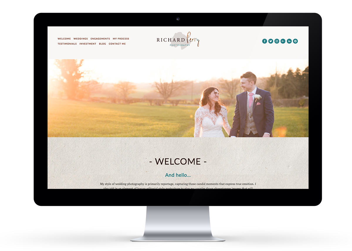 Richard Perry Website Design | byRosanna