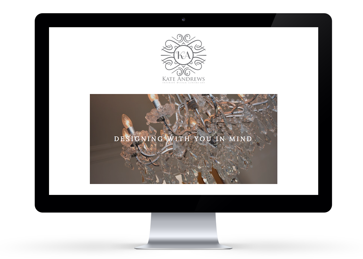 Kate Andrews website design in Squarespace