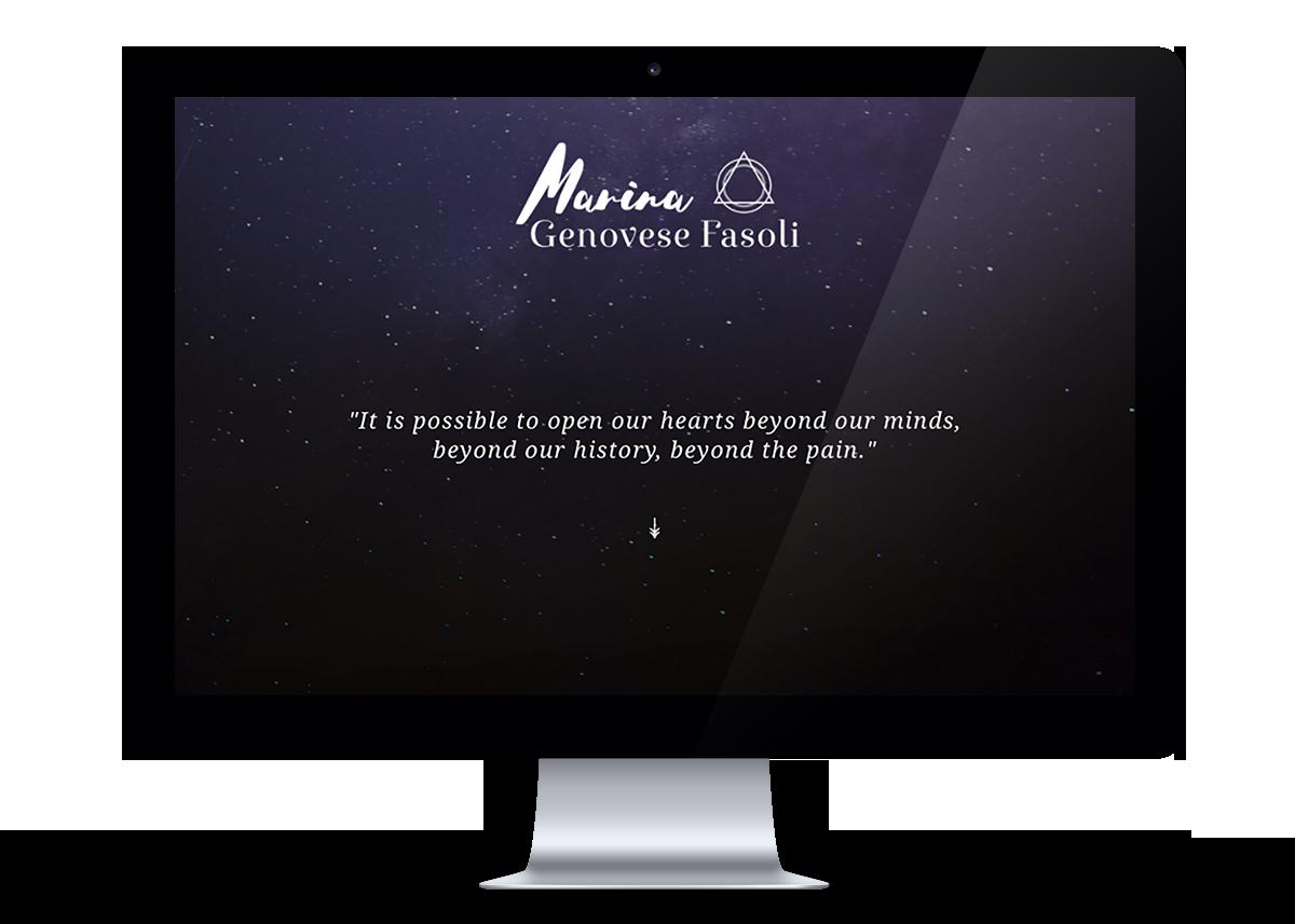 Marina Genovese Fasoli Website design