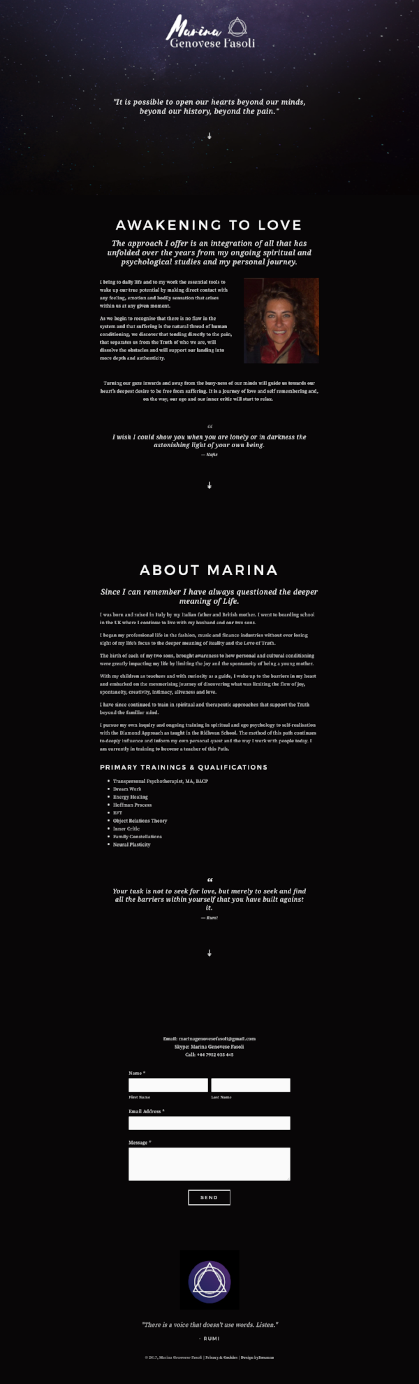 Marina website design in Squarespace   byRosanna