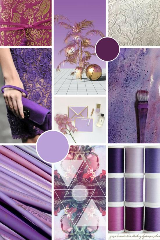Modern Estabraq moodboard | purple and gold | byRosanna design