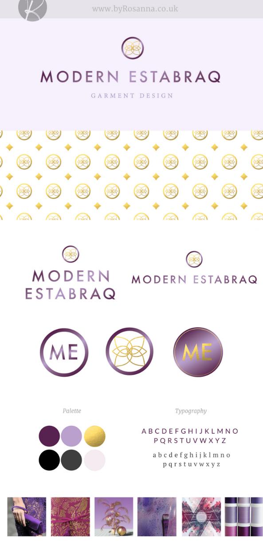 Modern Estabraq branding byRosanna