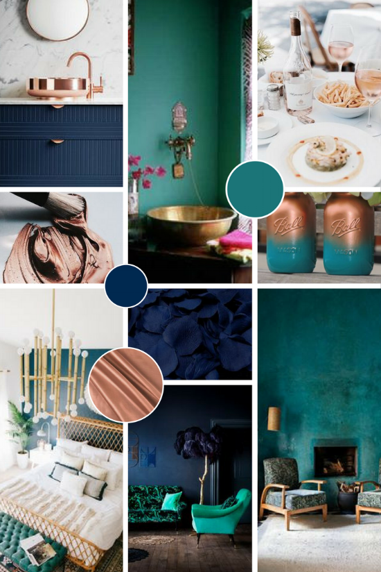 A Piece of You Moodboard | Turquoise and rose gold | byRosanna