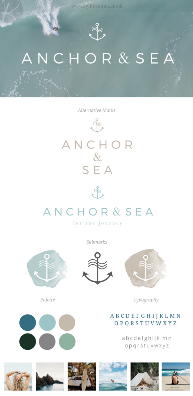 Anchor & Sea branding | byRosanna