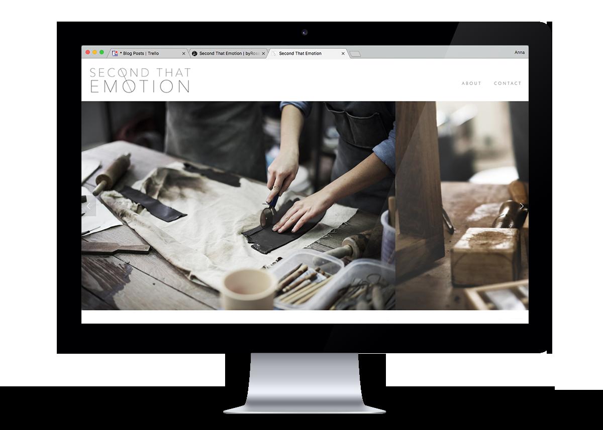 Website design on Squarespace
