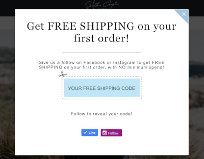 Better Coupon Box - social media follow in exchange for opt-in freebie
