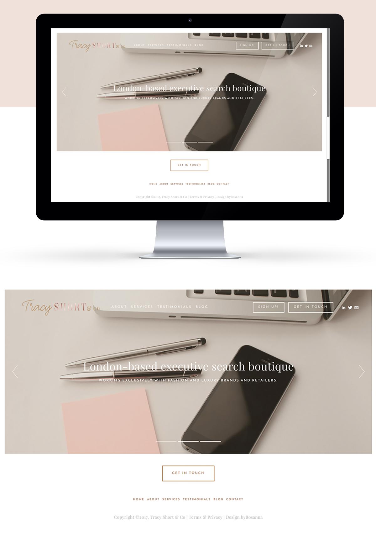 Squarespace website design byRosanna