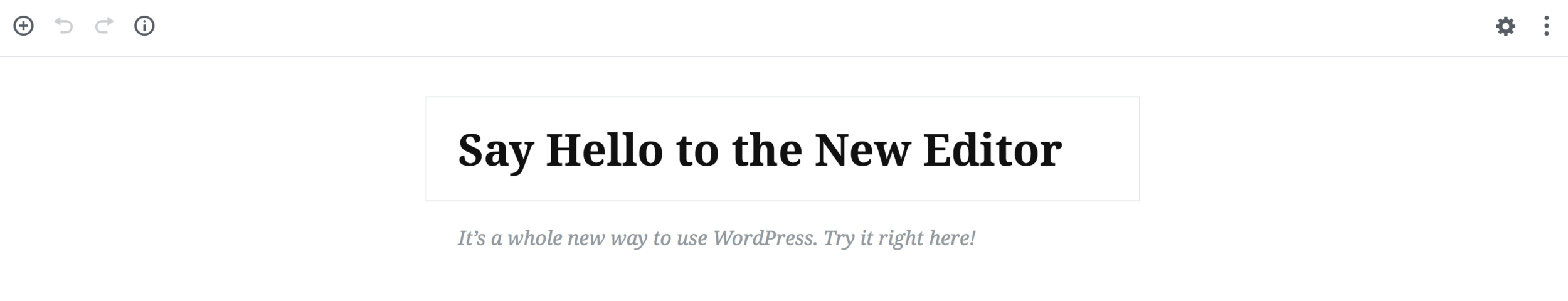Gutenberg editor in WordPress 5.0