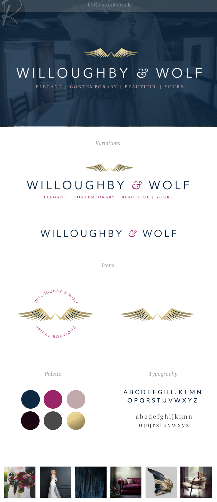 Brand design and logo concept for Willoughby & Wolf byRosanna