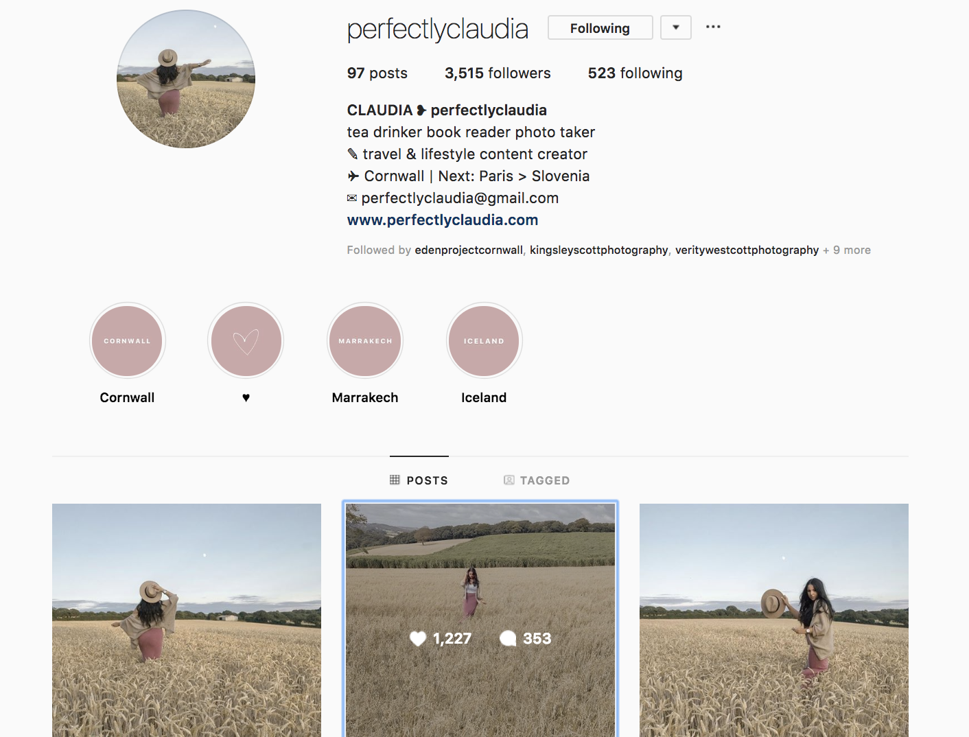 Claudia ( PerfectlyClaudia ) has some INSANE engagement on her profile - I have no idea how she does it! With only 3,500 followers, she has a whopping 35% like ratio, and on average gets over 200 comments per post too. Her following may be small, but it is super engaged and incredibly valuable to a brand!