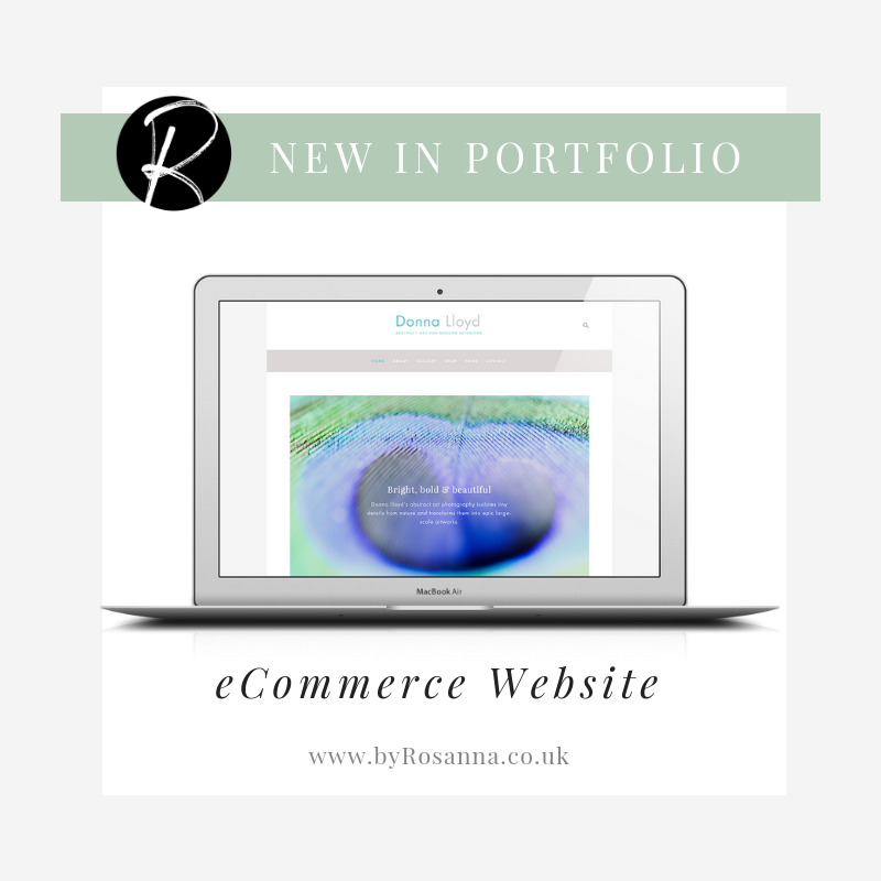 eCommerce shop on Squarespace website