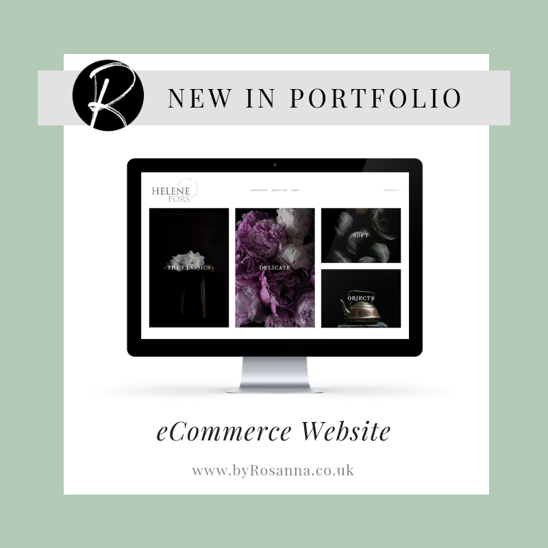Helene Pors Photography website design in Squarespace with byRosanna