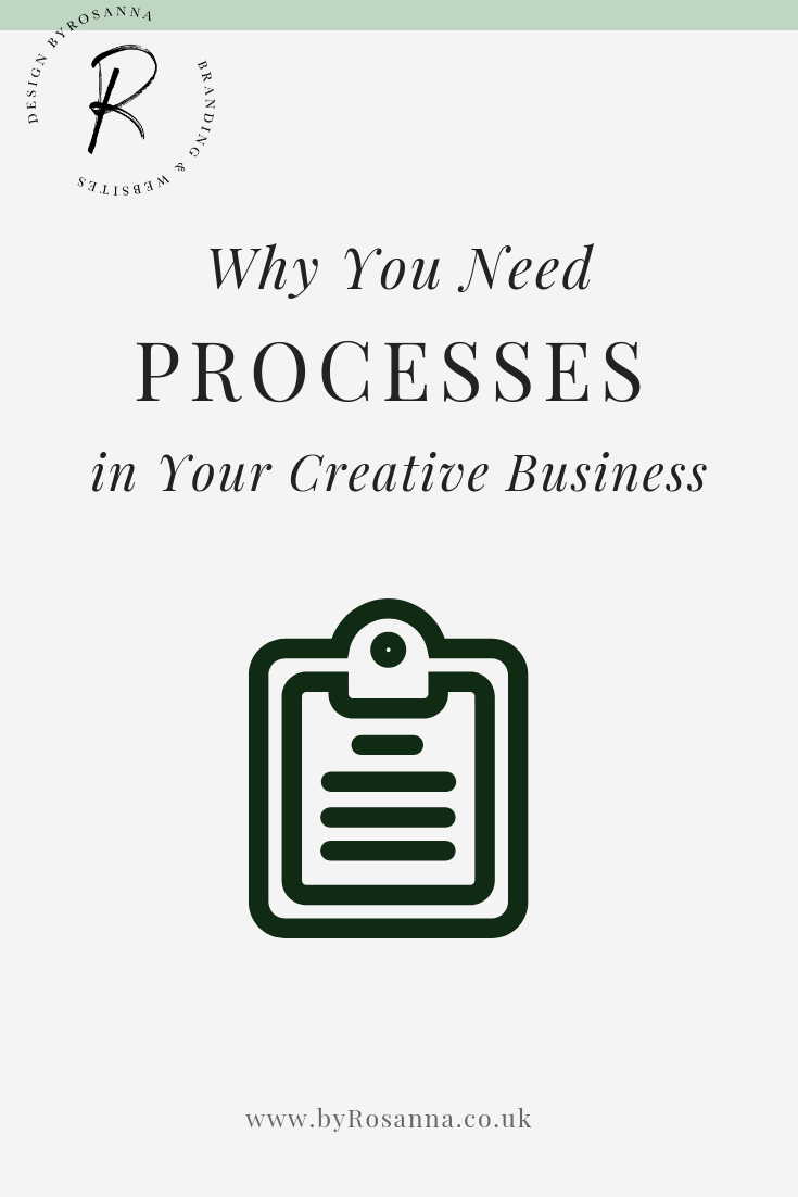 Why You Need Processes in Your Creative Business