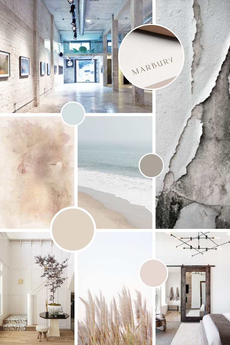 Earthy and natural brand moodboard for a logo colour palette and branding style