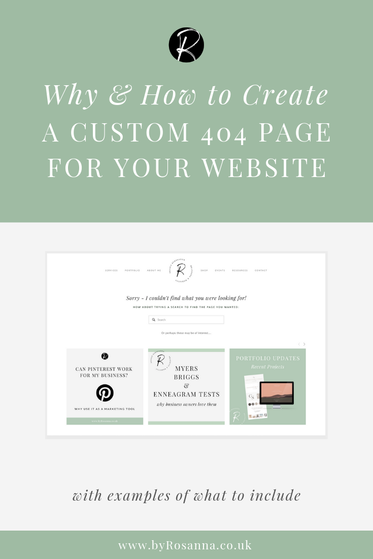 Why & How to Create a Custom 404 Page for Your Squarespace Website | #squarespacetips #404page #websitedesign #squarespacedesign