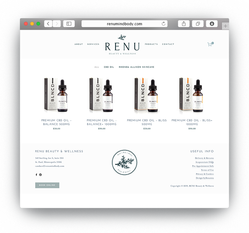 ReNu Squarespace Website | byRosanna