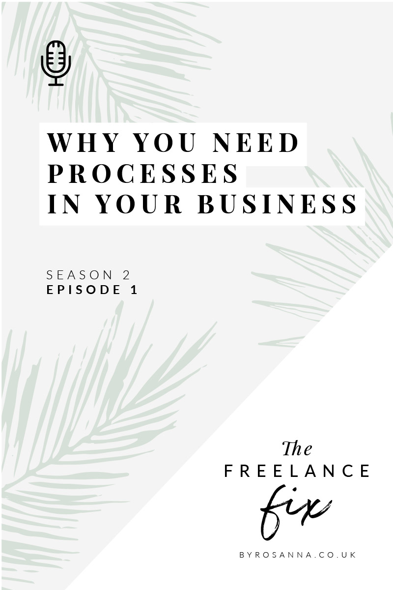 Why You need processes in your business | The Freelance Fix Podcast (byRosanna Design) | #productivity #businesstips #timemanagement
