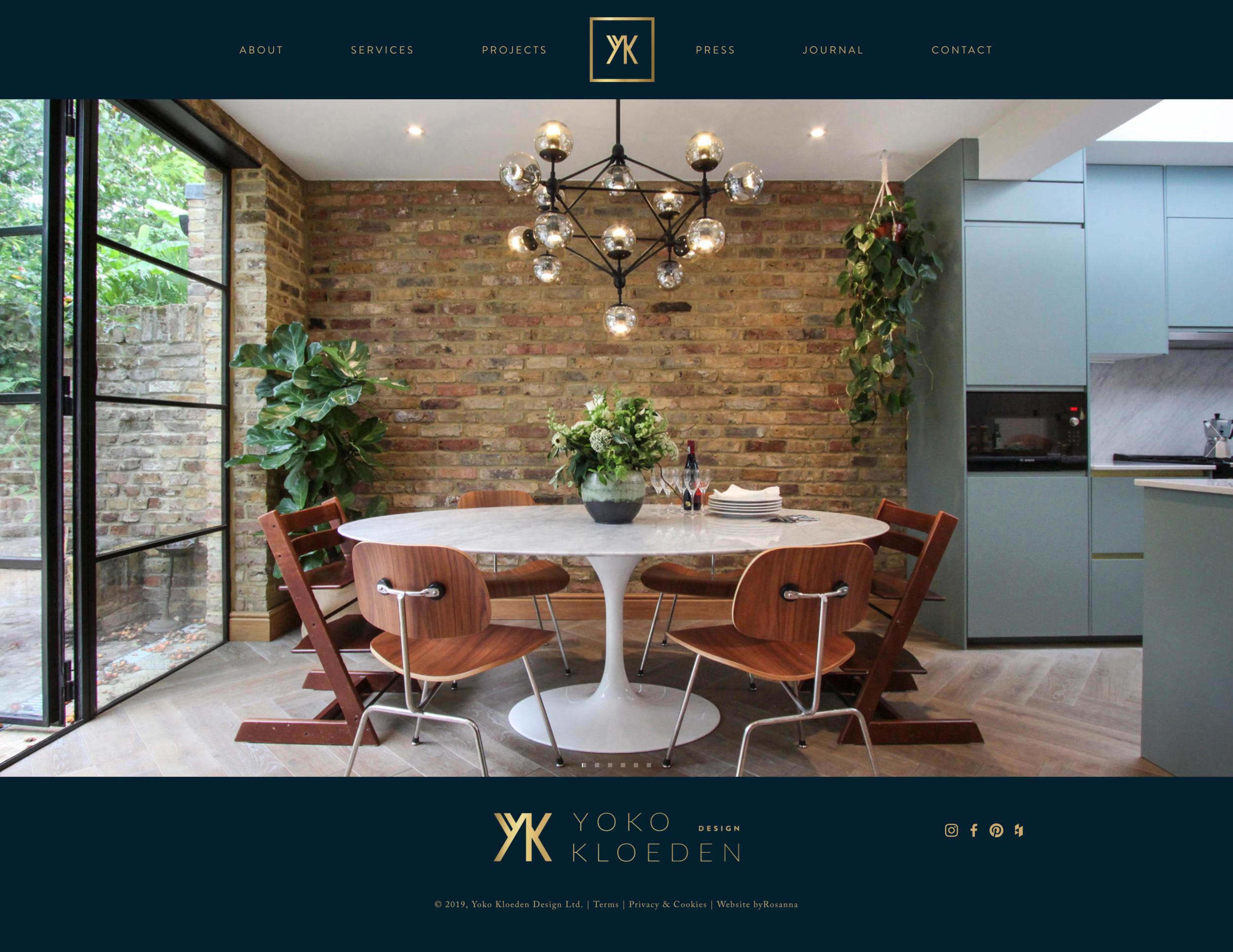 Yoko Kloeden Squarespace website design