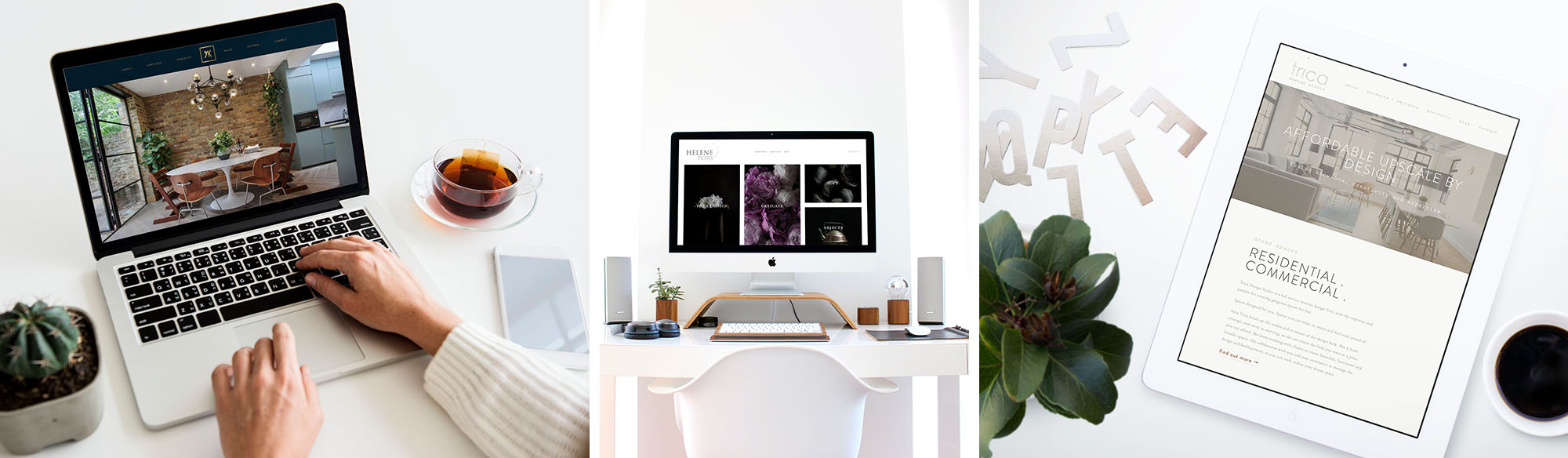 Featured Squarespace website design project