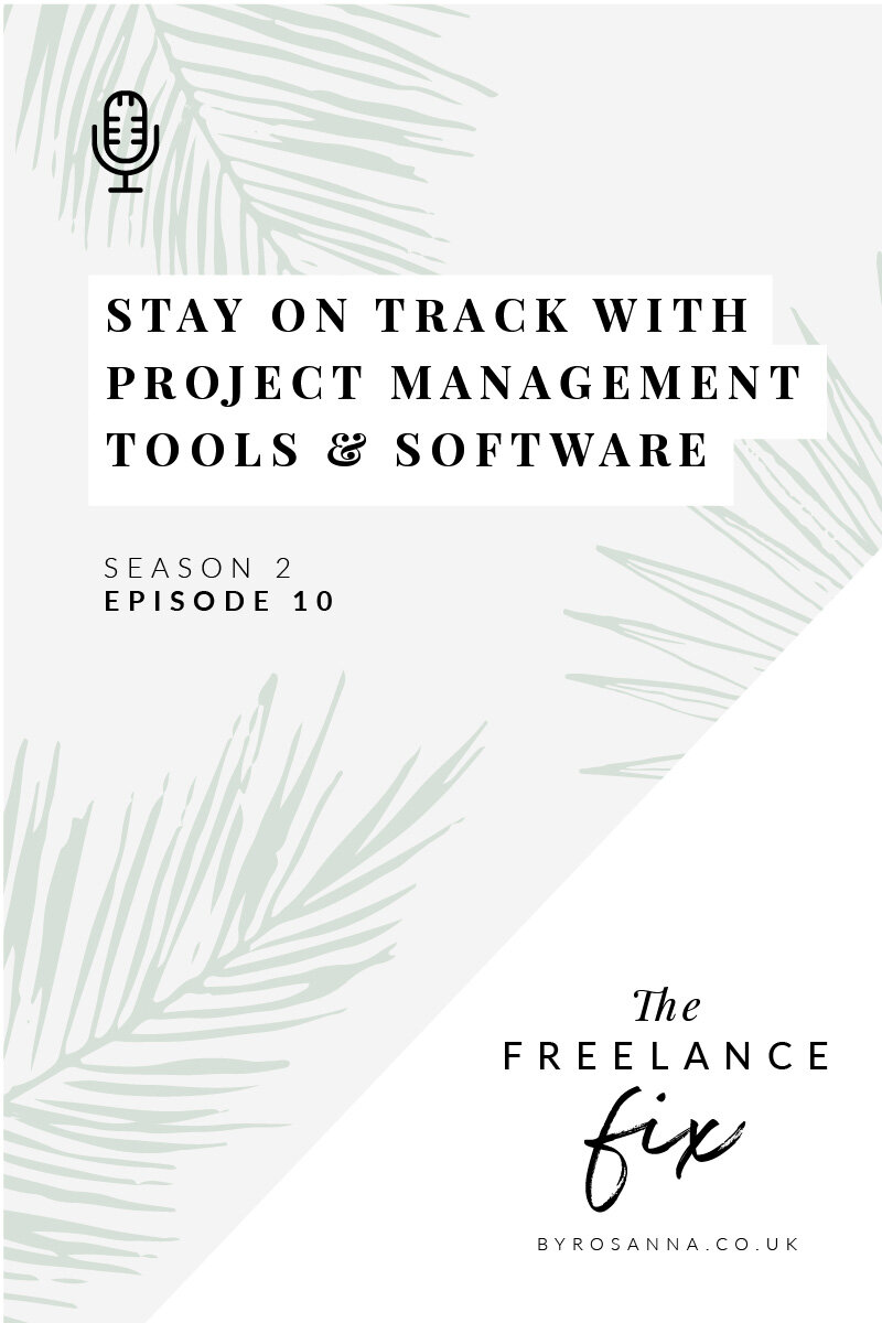 How I stay on track with project management software and tools in my freelance business #projectmanagement #productivitytips #productivitysoftware