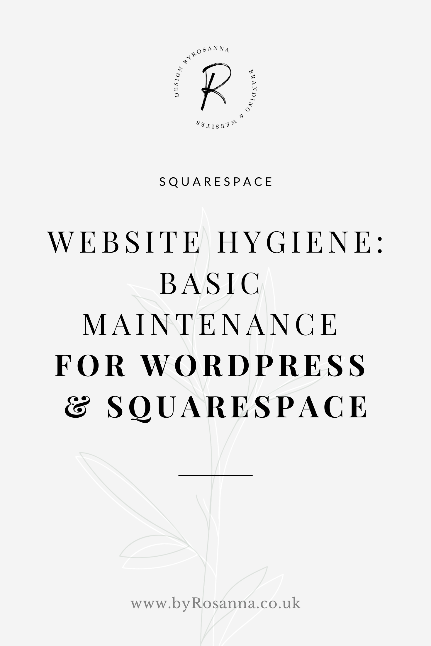 Website Hygiene: Basic Maintenance for WordPress & Squarespace sites | byRosanna | #websitehygiene #websitedesign #websitemaintenance #wordpress #squarespace #squarespacetips