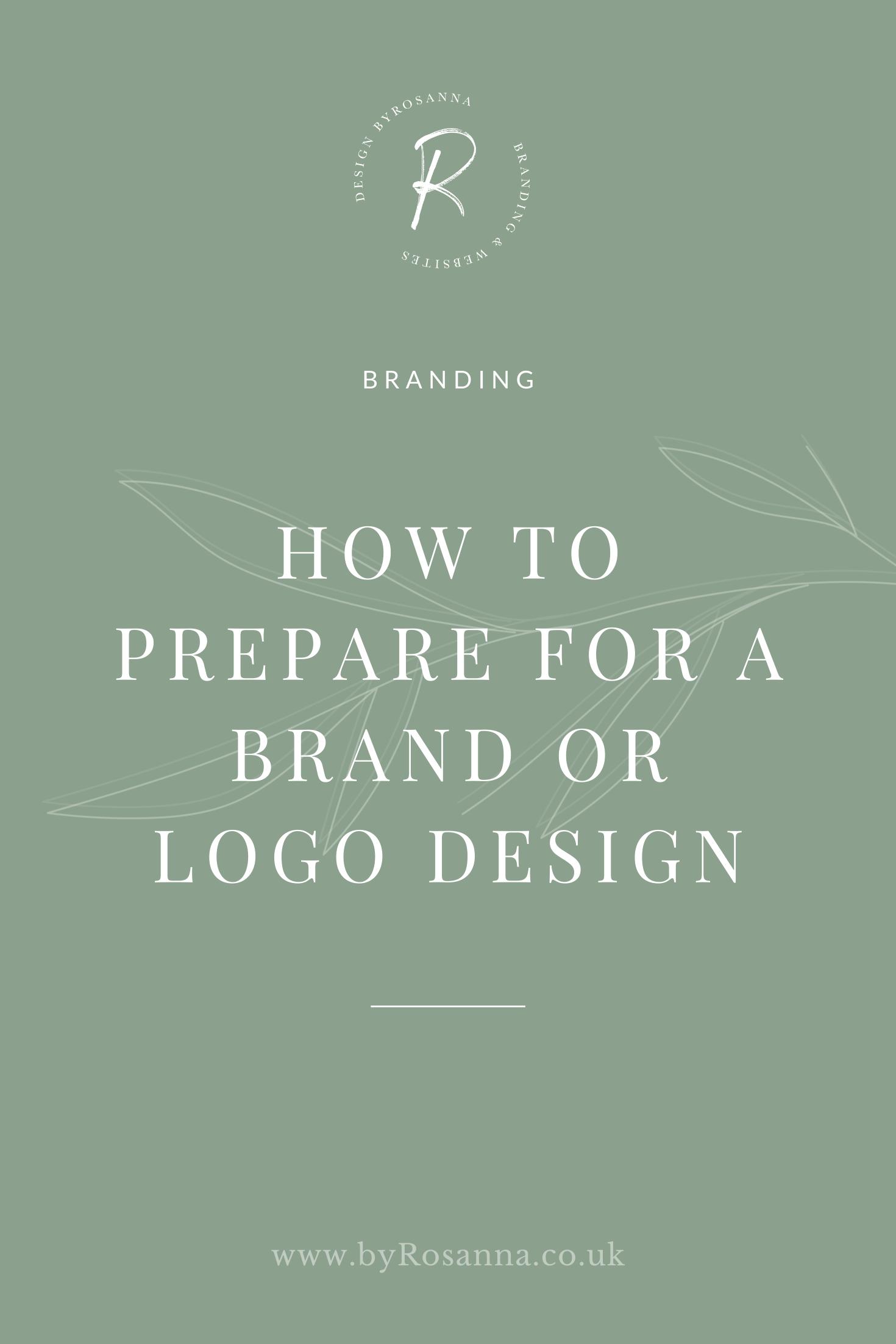 How To Prepare For A Brand Or Logo Design Byrosanna Squarespace Website Design Branding Uk