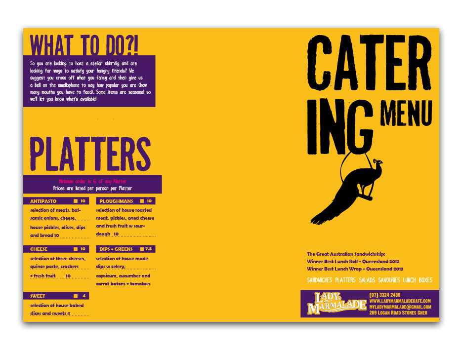 Catering Menu - Outside