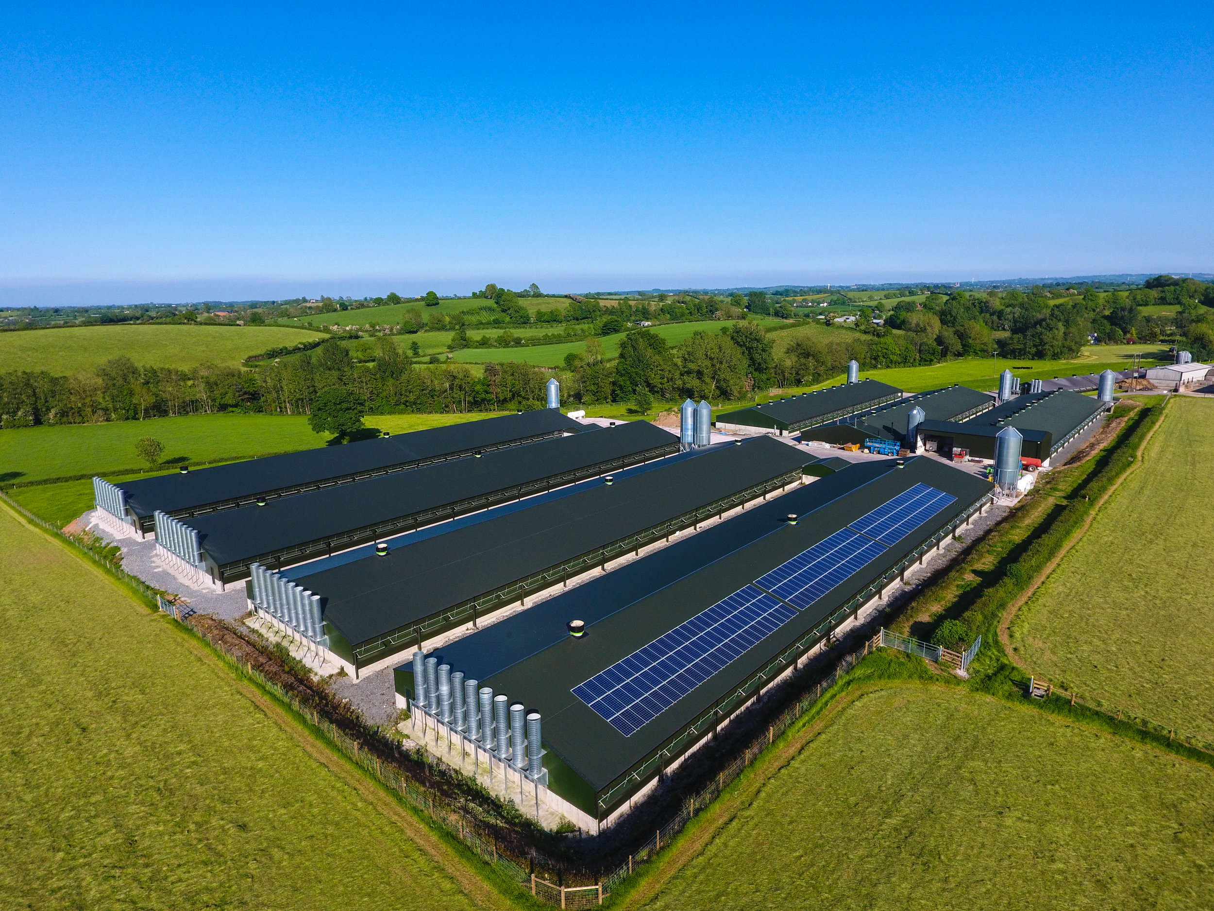BROILER PROJECT   Northern Ireland  In 2017, JF McKenna finished work on this large 7-house broiler site in Northern Ireland.