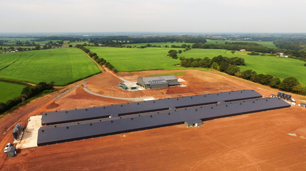 BROILER PROJECT    England   In 2017, JF McKenna worked in conjunction with Applied Poultry to complete this 4-house site in the UK for 240,000 birds.