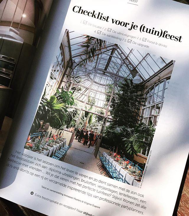 Tips voor een (tuin)feest! Interview voor @stijlvol_wonen, erg leuk! Veel dank Anneleen Peeters en Stijlvol Wonen! En @denisezwijnenphotography voor de enthousiaste connectie! Met een paar van mijn favoriete settings, adresjes en foto's van @sameyeam.photo , @jeroennoordzijphotography , @ingridhofstra en @elsbethtijssen