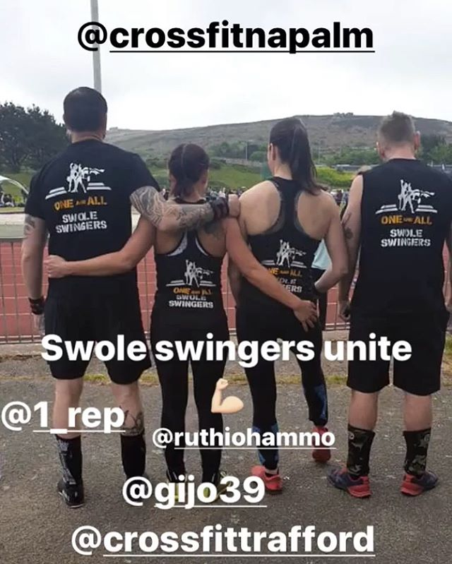 Best of luck to the Napalmers throwing down at CFTrafford today - #swoleswingers #teamnapalm #napalmnation #crossfitnapalm #crossfit #throwdown #functionalfitness #stokegym