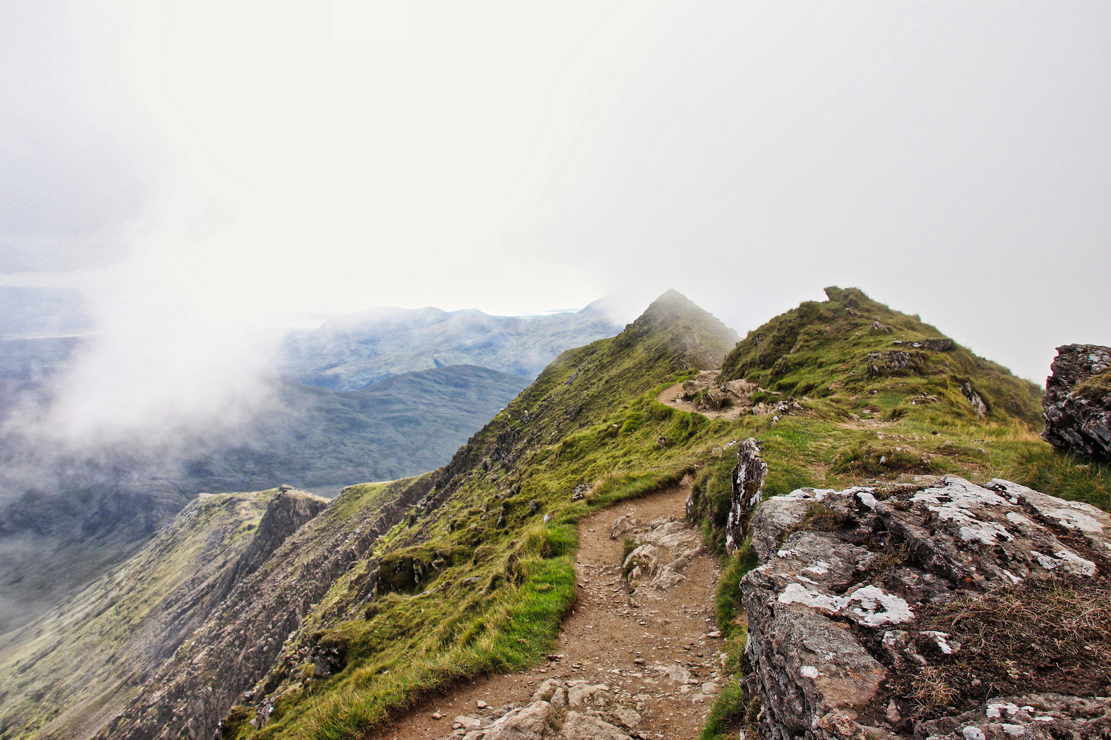 The Rangers Path to the summit of Snowdon