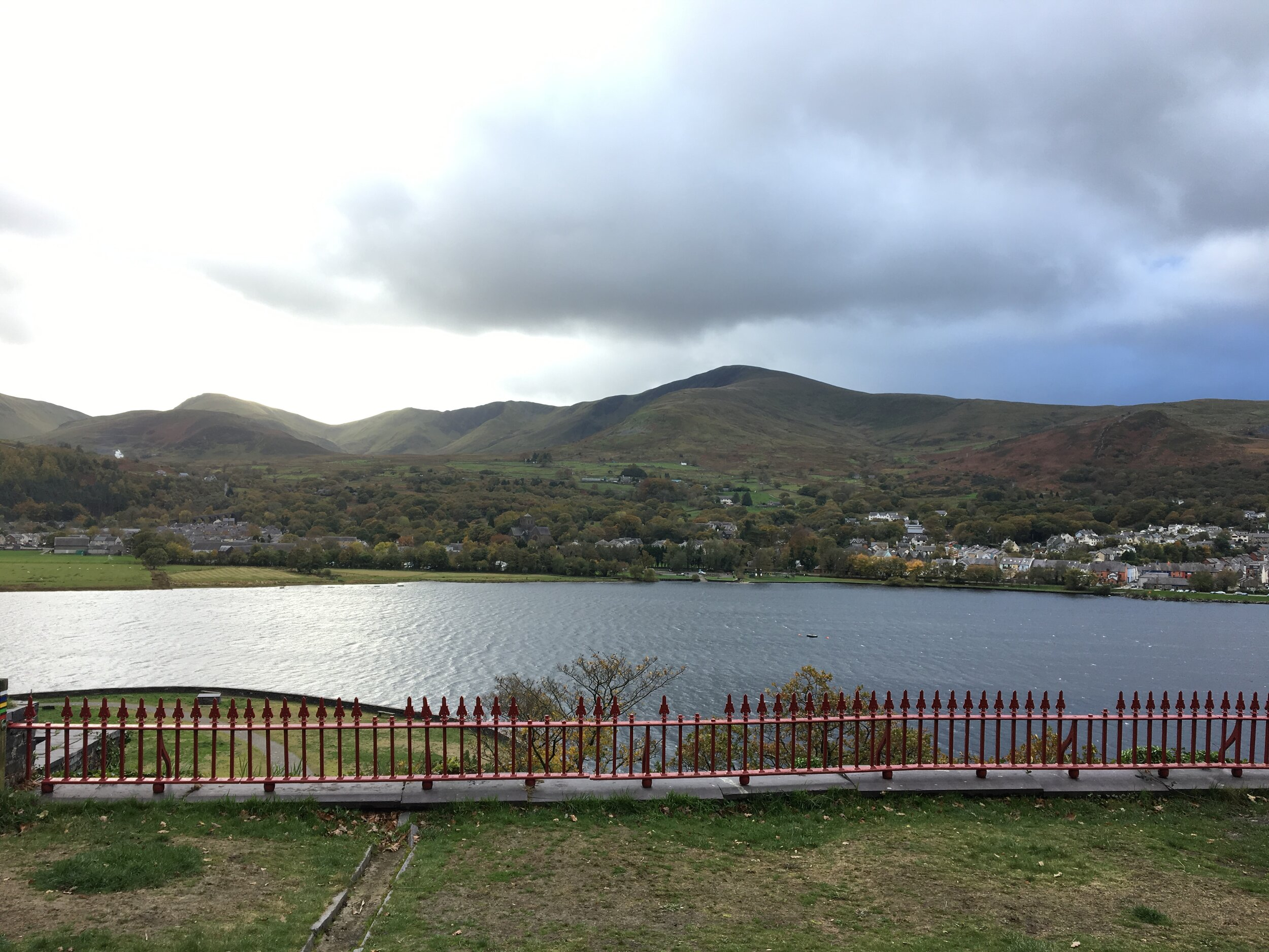View from The Old Quarry Hospital towards Llanberis